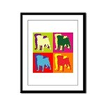 Pug Silhouette Pop Art Framed Panel Print