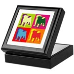 Pug Silhouette Pop Art Keepsake Box