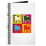 Pug Silhouette Pop Art Journal