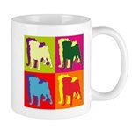Pug Silhouette Pop Art Mug