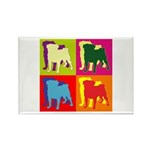 Pug Silhouette Pop Art Rectangle Magnet (100 pack)
