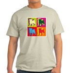 Pug Silhouette Pop Art Light T-Shirt