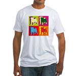Pug Silhouette Pop Art Fitted T-Shirt