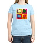 Pug Silhouette Pop Art Women's Light T-Shirt