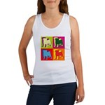 Pug Silhouette Pop Art Women's Tank Top