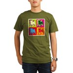 Pug Silhouette Pop Art Organic Men's T-Shirt (dark