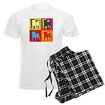 Pug Silhouette Pop Art Men's Light Pajamas