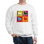 Pug Silhouette Pop Art Sweatshirt