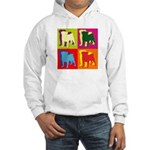 Pug Silhouette Pop Art Hooded Sweatshirt