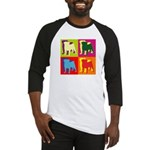 Pug Silhouette Pop Art Baseball Jersey