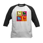 Pug Silhouette Pop Art Kids Baseball Jersey