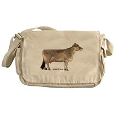 Brown Swiss Messenger Bag