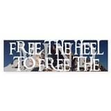 Free The Heel Bumper Bumper Sticker