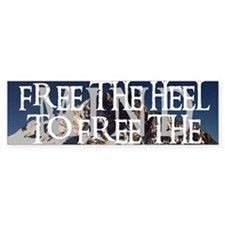 Free The Heel Bumper Car Sticker
