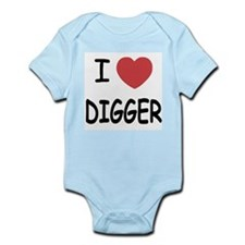 I heart digger Infant Bodysuit