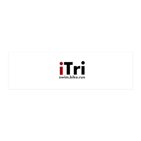 iTri Triathlon Merchandise 42x14 Wall Peel
