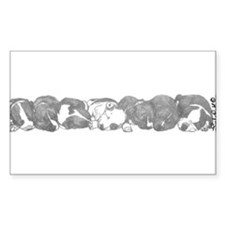 peaceful puppies Rectangle Decal