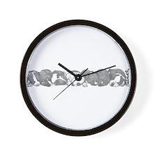 peaceful puppies Wall Clock