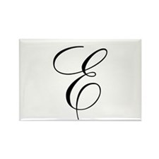 E Initial Rectangle Magnet (10 pack)