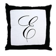 E Initial Throw Pillow