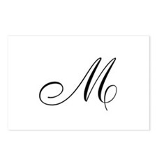 M Initial Postcards (Package of 8)