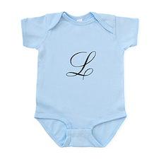 L Inital Infant Bodysuit