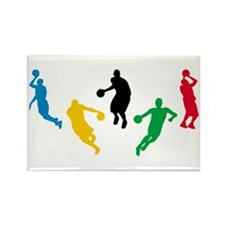 Basketball Players Rectangle Magnet