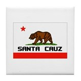 Santa Cruz,Ca -- T-Shirt Tile Coaster