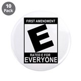 "1st Ammendment - 3.5"" Button (10 pack)"