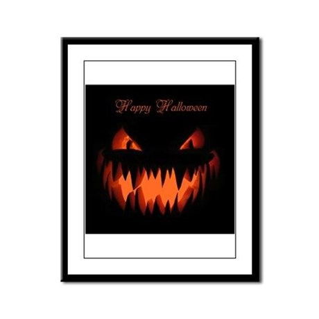 Happy Halloween Pumpkin Framed Panel Print