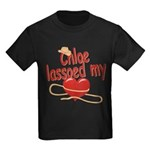 Chloe Lassoed My Heart Kids Dark T-Shirt