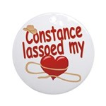 Constance Lassoed My Heart Ornament (Round)