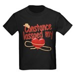 Constance Lassoed My Heart Kids Dark T-Shirt