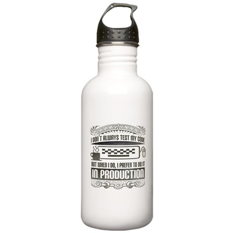 Test My Code Stainless Water Bottle 1.0L