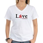 Love Someone with Autism Women's V-Neck T-Shirt