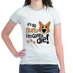 It's So Fluffy I'm Gonna Die Jr. Ringer T-Shirt