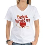 Darlene Lassoed My Heart Women's V-Neck T-Shirt