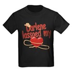 Darlene Lassoed My Heart Kids Dark T-Shirt