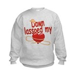 Dawn Lassoed My Heart Kids Sweatshirt