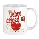 Debra Lassoed My Heart Mug