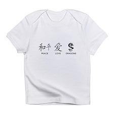 Peace, Love, Dragons Infant T-Shirt