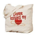 Dianne Lassoed My Heart Tote Bag
