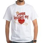Dianne Lassoed My Heart White T-Shirt