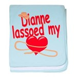 Dianne Lassoed My Heart baby blanket