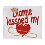 Dianne Lassoed My Heart Throw Blanket