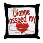 Dianne Lassoed My Heart Throw Pillow