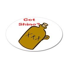Got Shine? 22x14 Oval Wall Peel