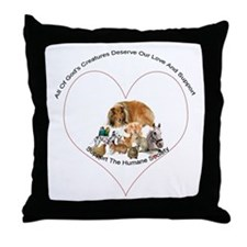 Humane Society Support Throw Pillow