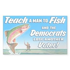 Teach a Man to Fish Decal