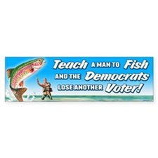 Teach a Man to Fish Bumper Sticker